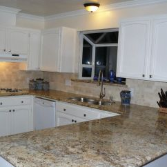 Kitchen Counters And Backsplash Replacing Cabinet Doors Tumbled Travertine Authentic Durango Stone
