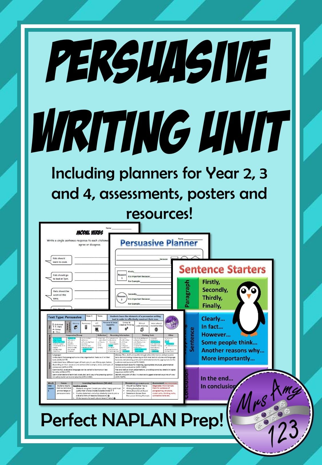 A 10 Week Unit For Teaching Persuasive Writing With
