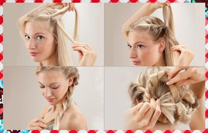 Fesche Flechtfrisur Step 1 4 Frisuren Pinterest Wiesn
