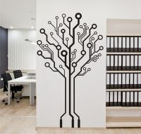 Circuit Board Tree Vinyl Wall Art / Graphic - Stickers ...