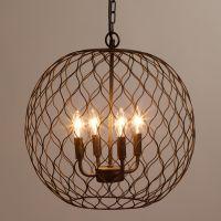 Dark Bronze Globe Farmhouse Chandelier   Lighting ...