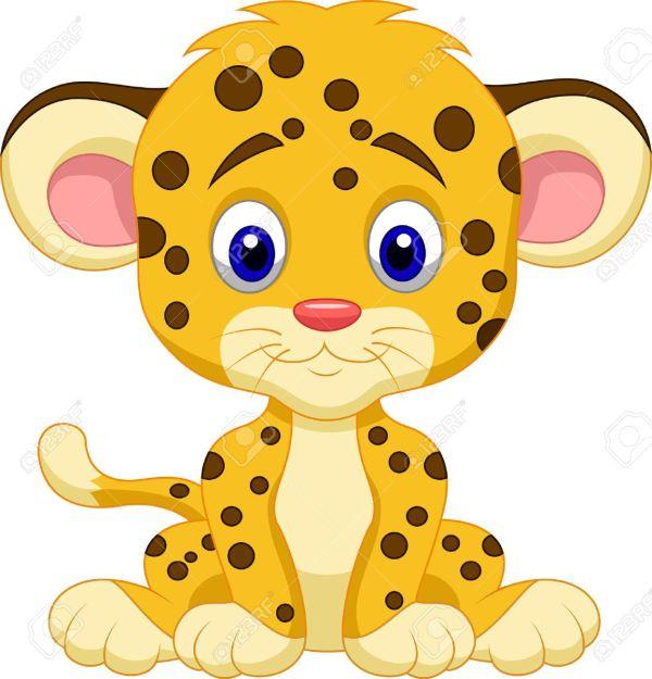 Beb Leopardo De Dibujos Animados Ilustraciones