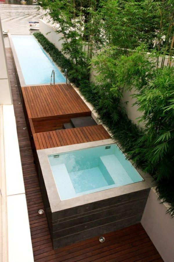 Mini Pool Garten Minimalistisch Modern Badewanne Garten Und