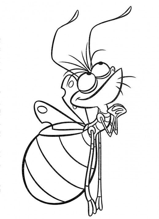 Ray the Firefly Coloring Page---Use Glow-In-The-Dark Paint