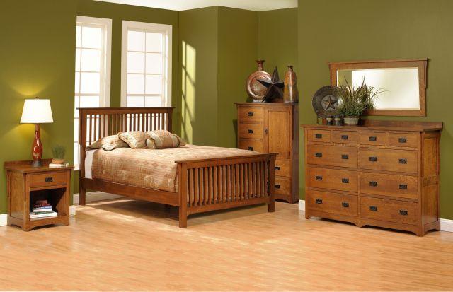 San Juan Mission Style Solid Oak Mission Bedroom Set