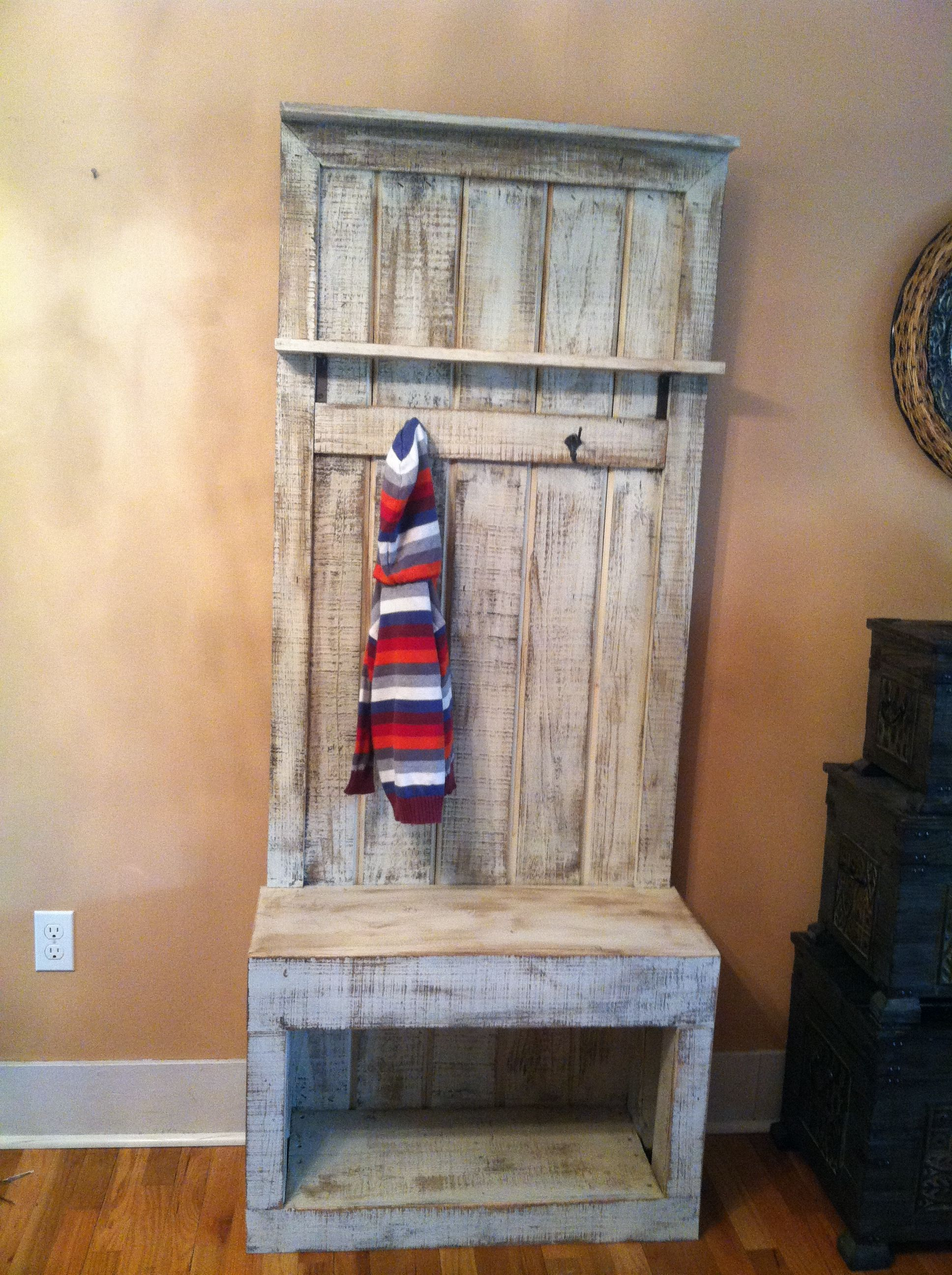 entryway coat rack for small spaces. #reclaimed #