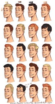 male hairstyles drawing