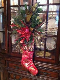 Christmas Stocking Door Hanging - Holiday Wreath - Front ...