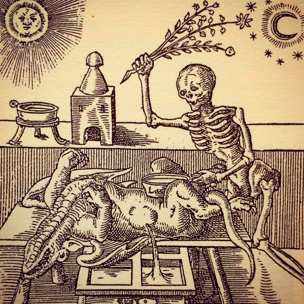 Alchemy Woodcut Illustration