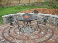Effective Lovely Round Brick Patio Designs On Circular ...