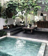 Urban Backyard Ideas | Modern Lap Pool | Outdoor Bar Ideas ...