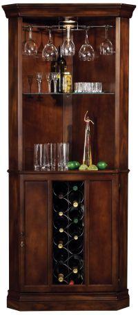 Howard Miller Piedmont Rustic Cherry Corner Bar Cabinet ...