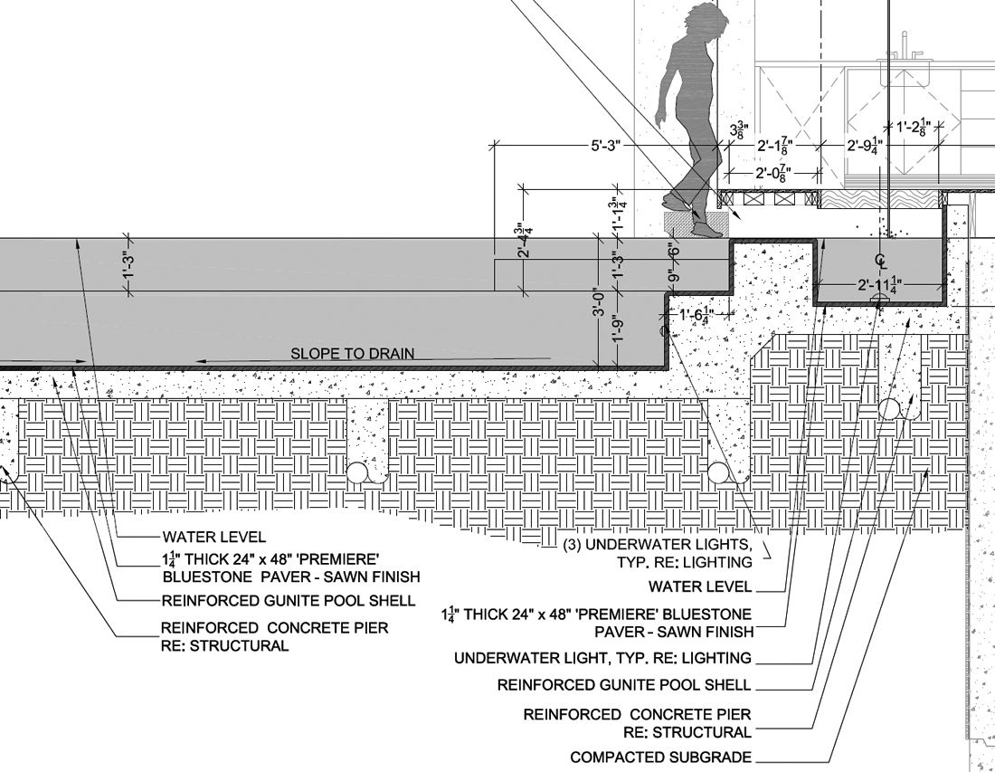 Pool Detail Drawing By Feofanarchitect Architecture