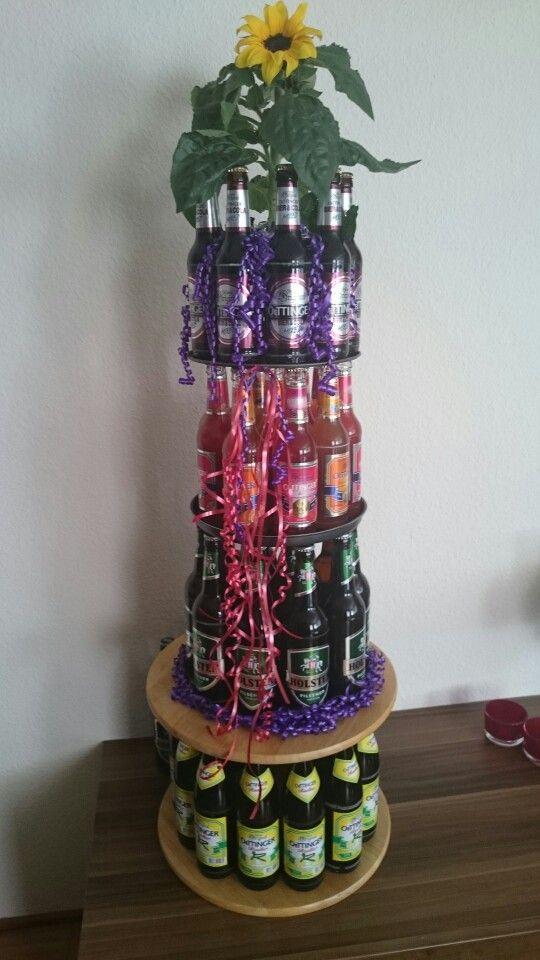 Torte aus Bierflaschen Geburtstag  Geburtstag