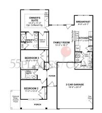 Calhoun Floorplan | 1200 Sq. Ft. | The Villages at Red ...