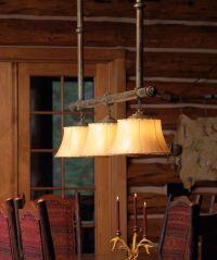 rustic lighting for cabins | Custom Eagle Lodge Chandelier ...