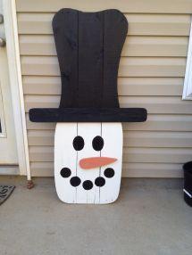 Pallet Snowman Snowmen