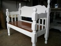 Benches Made From Bed Frames | ... bed frame bench we used ...