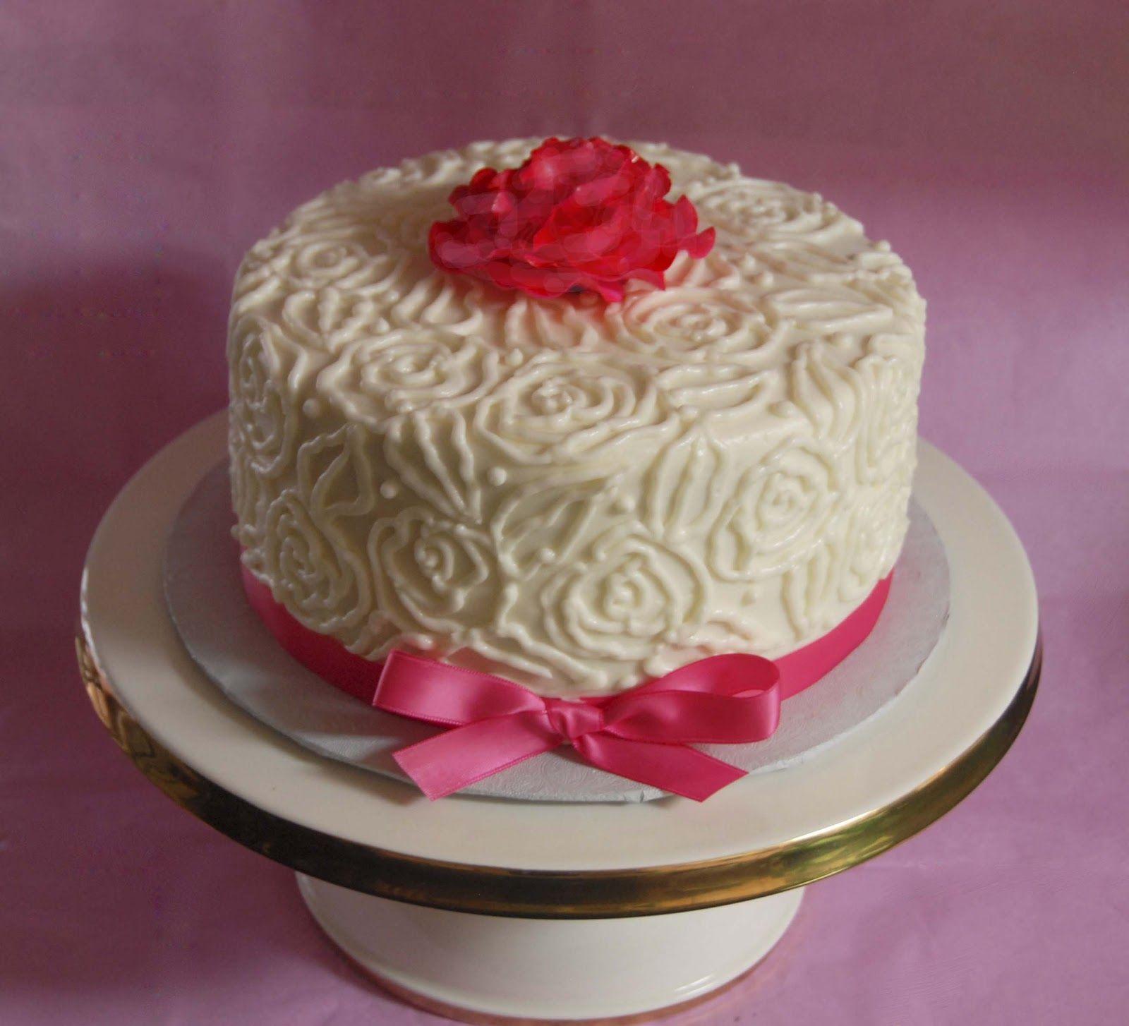 Cake With Roses Birthday Cake