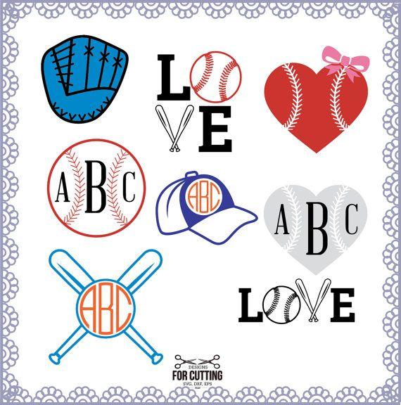 Download BASEBALL, cut Files .svg / .eps / .dxf, MONOGRAM, baseball ...