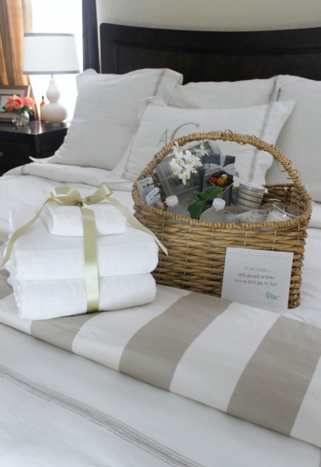 Overnight Guest Welcome Basket Guest Room Guest Cottage
