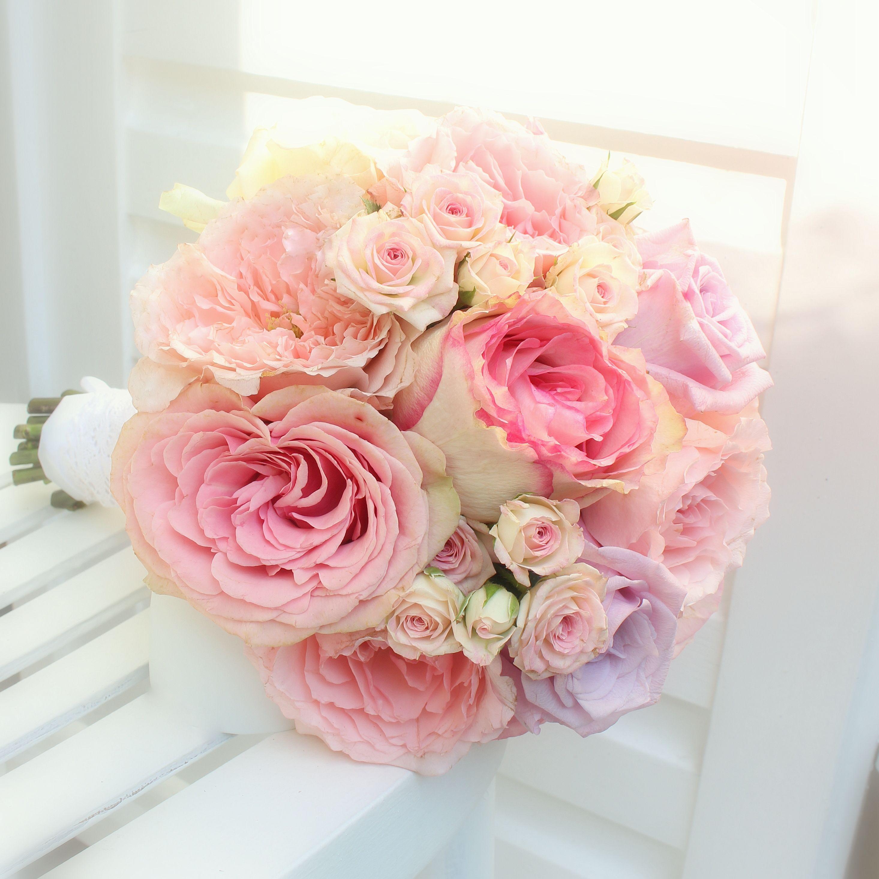 Brautstrau mit sommerlichen rosa Rosen  httpwww