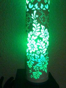 Luminaria Artesanal Floral Feita De Tubo Pvc 100