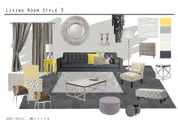 Living Room and Master Bedroom Mood board | Grey living ...