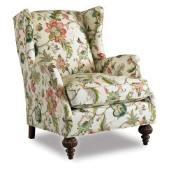 Sam S Club Upholstered Chairs French Script Wingback Chair Botanical Print Upholstery Fabric | ... Abington Wing - Jewel