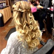 waterfall braid prom hair style
