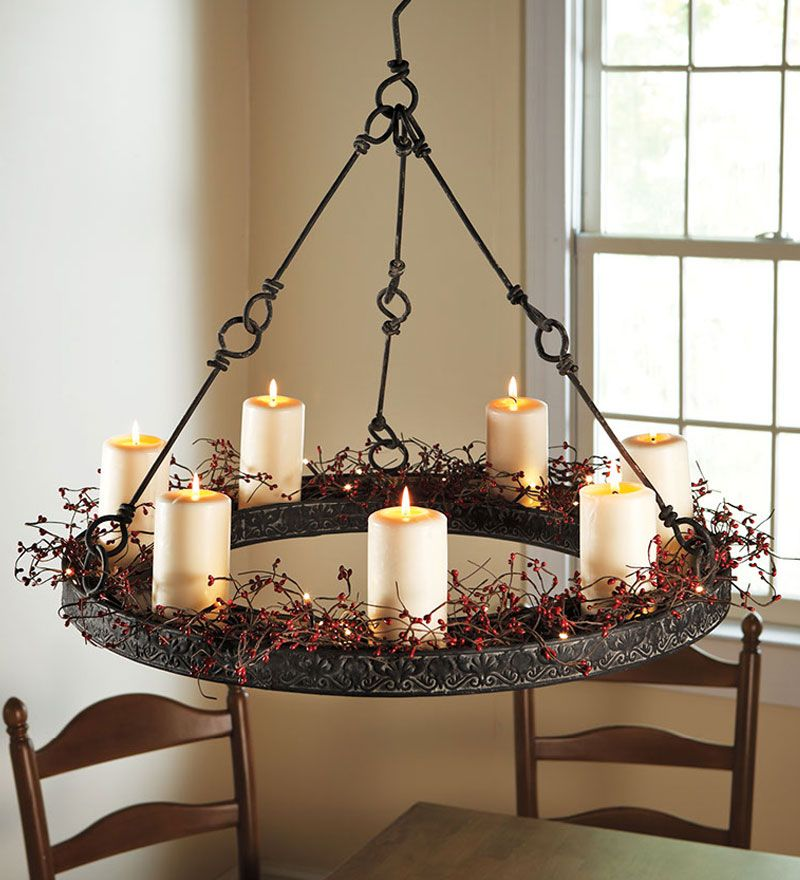 Hanging Candle Chandelier on Pinterest