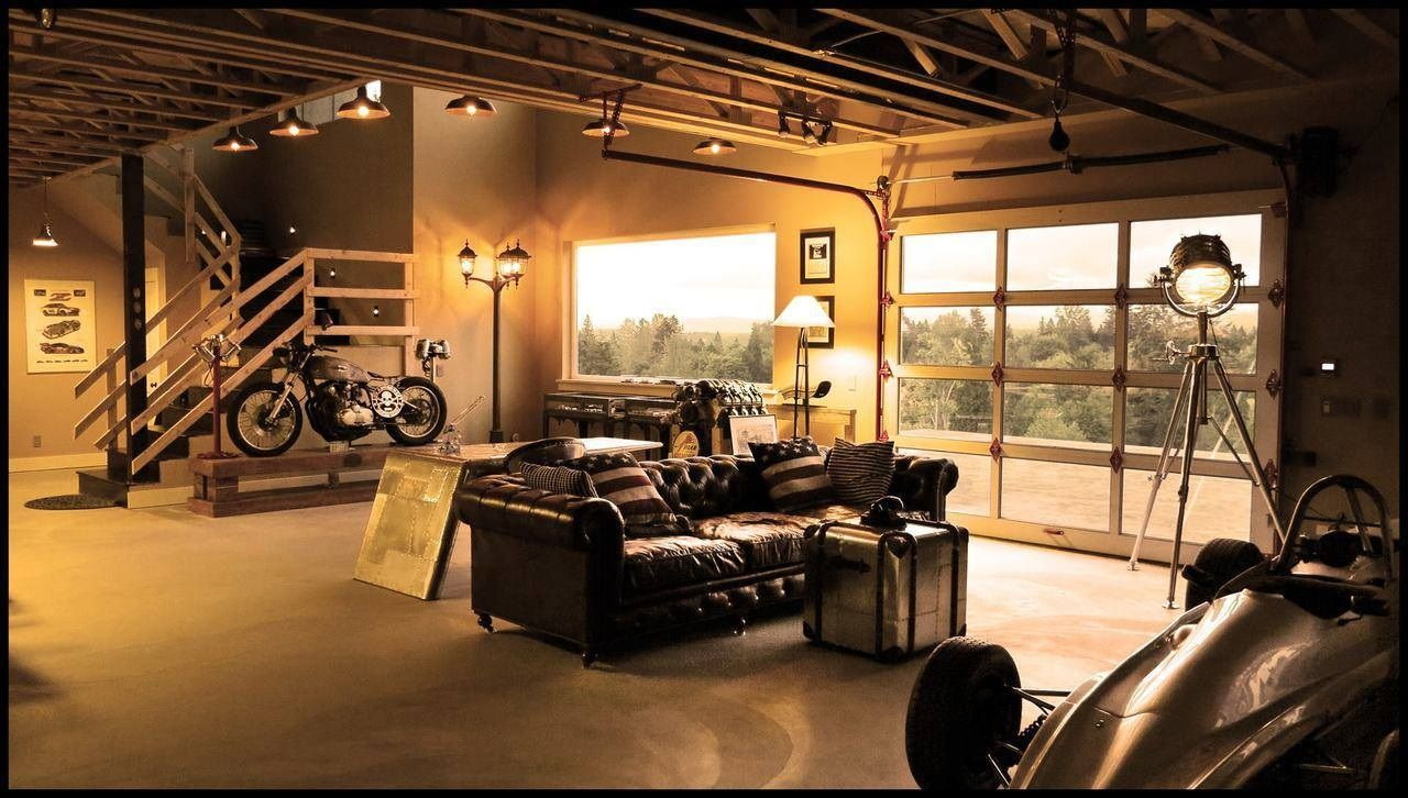 20 cool living spaces inside of garages | living rooms, room and