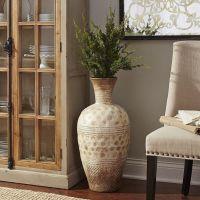 living room : Antiquw Ivory Carving Stone Living Room Vase ...