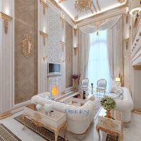 white and gold living room | Incredible Interiors ...