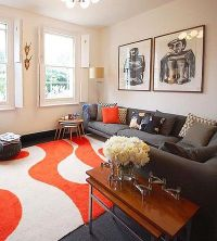 Finding the Right Living Room Mix | Orange rugs, Living ...