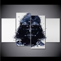4 Panel Framed Star Wars Darth Vader Canvas Wall Art