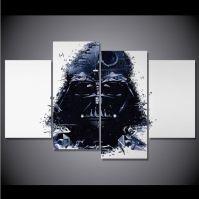 4 Panel Framed Star Wars Darth Vader Canvas Wall Art ...