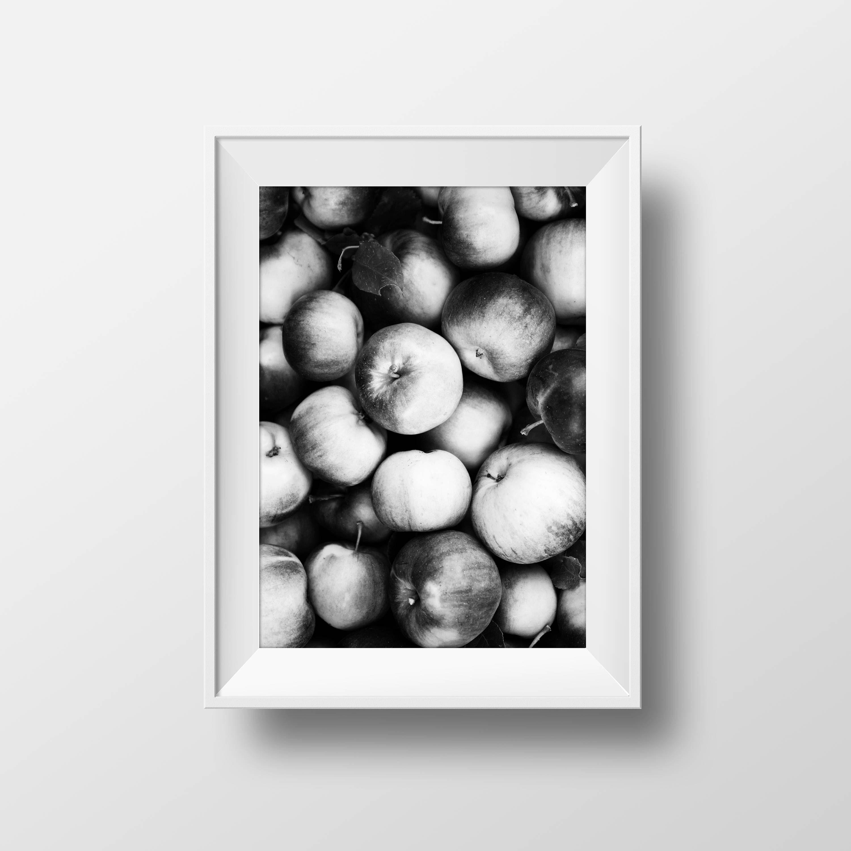 Apples print photo food wall art home decor also rh pinterest