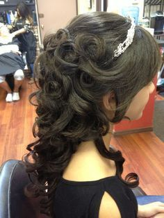 """Quinceanera Hairstyles With Curls And Tiara Google Search """"The"""