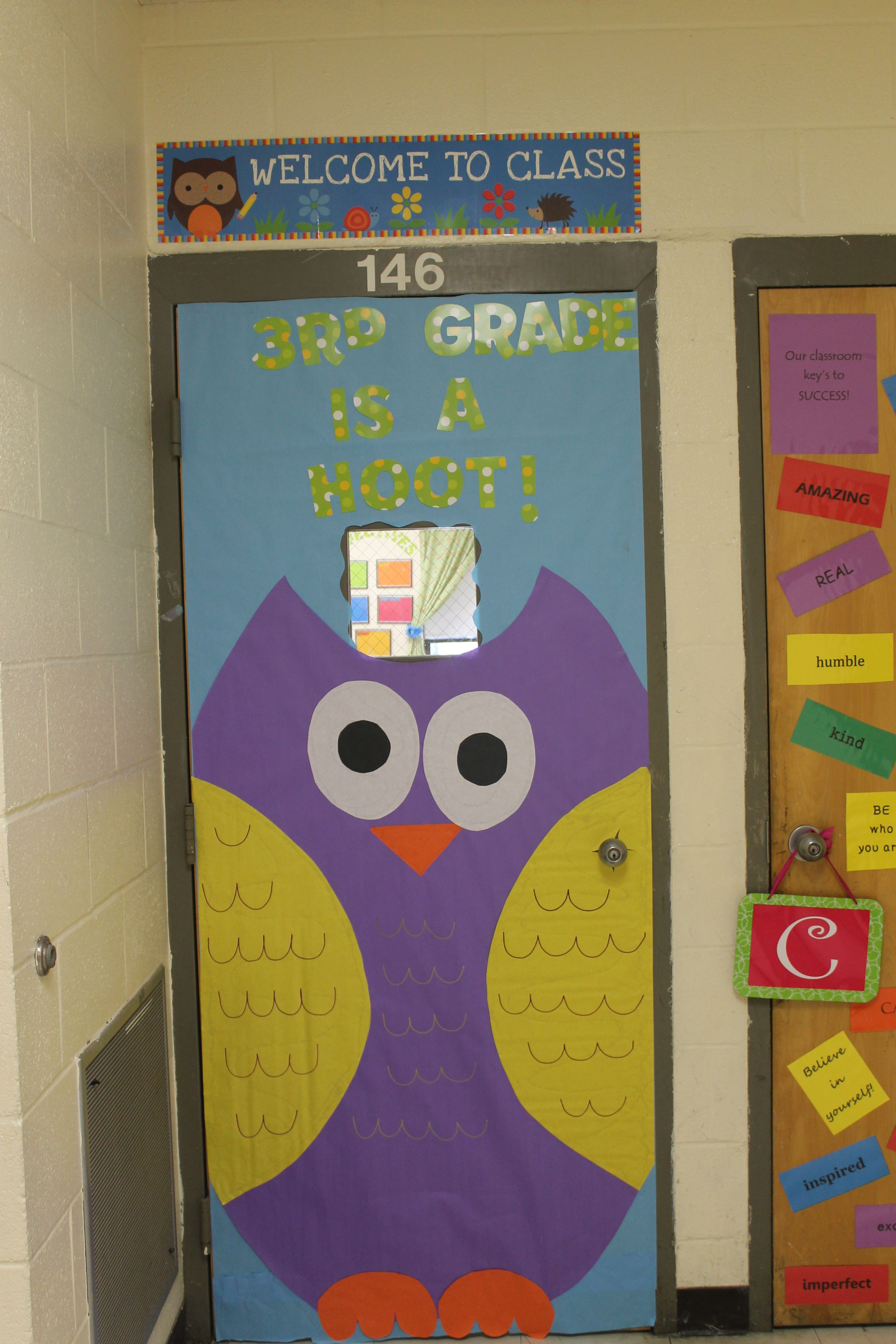 My Door For My Owl Themed Classroom