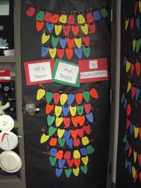 Idea for decorating your classroom door this holiday ...
