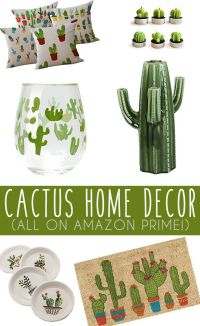 Cactus Home Decor Finds On Amazon | Living room kitchen ...