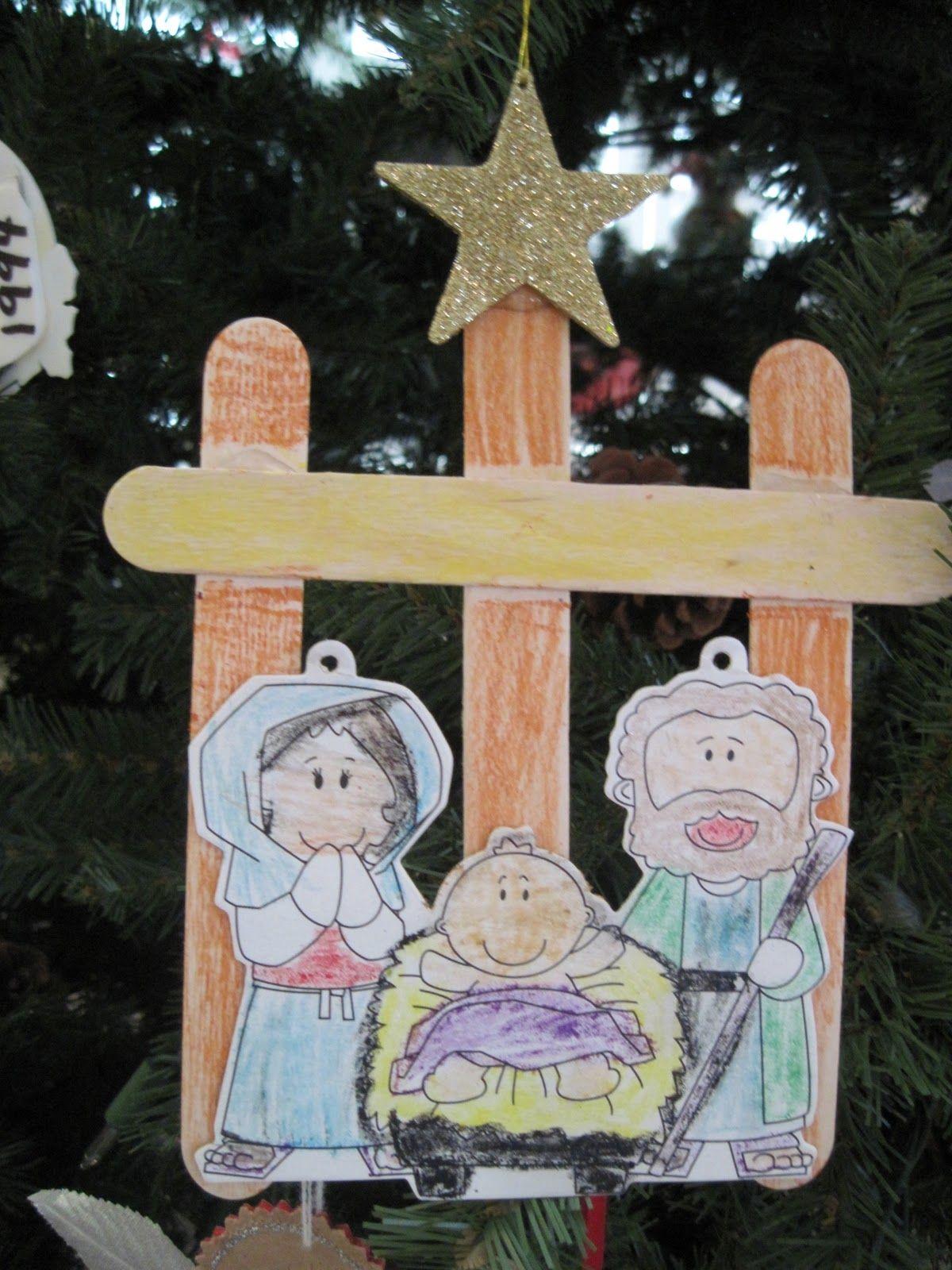Craft Christmas Nativity For Preschoolers