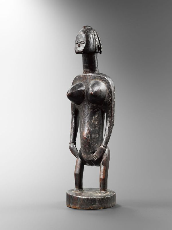 Statue Minine Peuple Bamana Nyeleni Mali Collection
