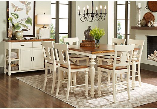 havertys newport sofa table loveseat ottoman set hillside cottage white 5 pc counter height dining room ...