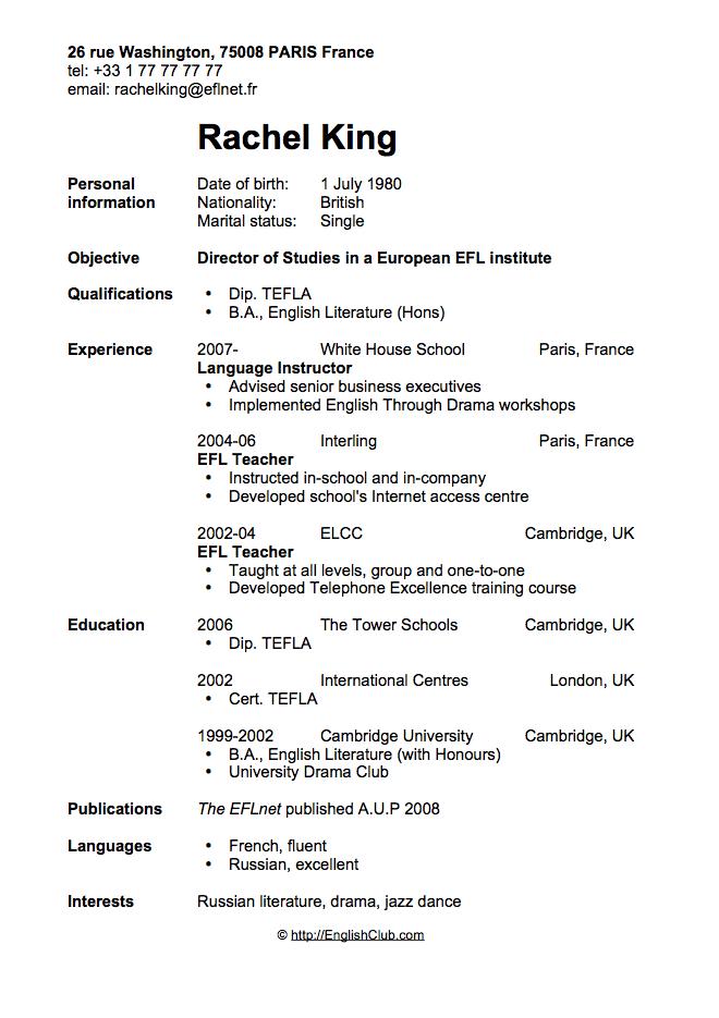CV Resume Director Of Studies C V ´S RESUME JOBS ETC