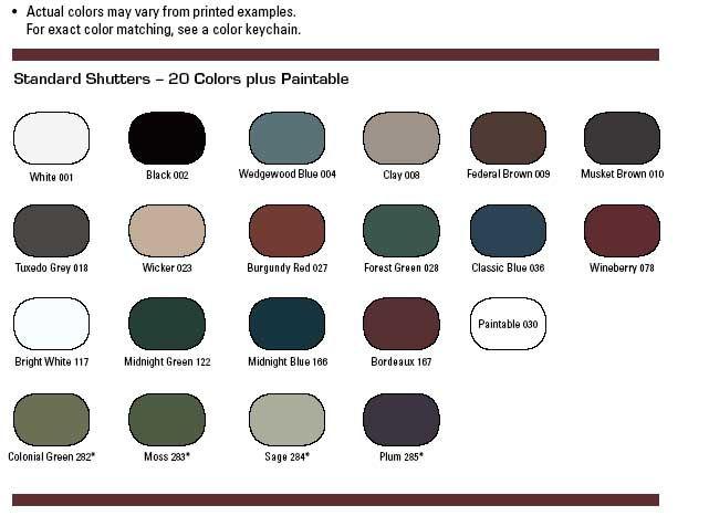 Shutter Colors For Brown Brick House Styles Sizes Custom Shutter