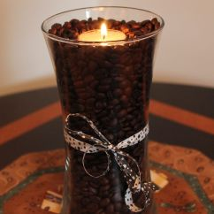 Coffee Decoration For Kitchen Composter Bean Art Glass Vase And Tealight My Style