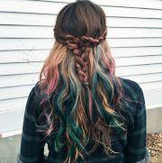 mermicorn hair multicolor color