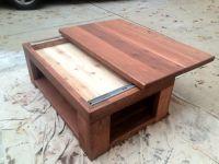 Cedar Coffee table with a sliding top | Custom Builds ...